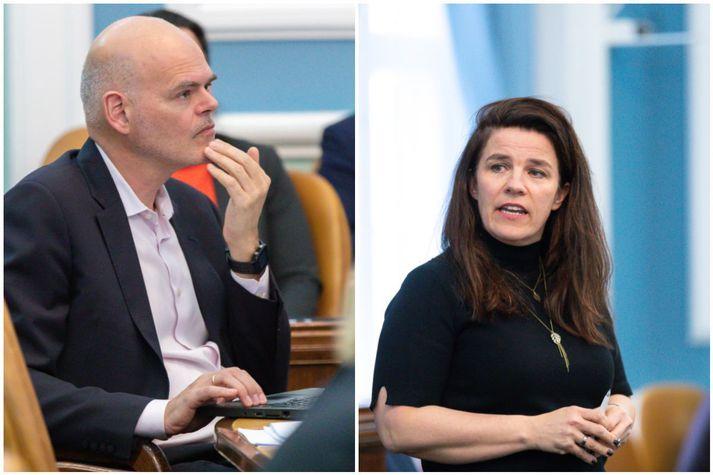 Ólafur Þór Gunnarsson og Helga Vala Helgadóttir.
