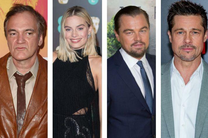 Tarantino hefur fengið þau Robbie, DiCaprio og Pitt til liðs við sig í næstu mynd.