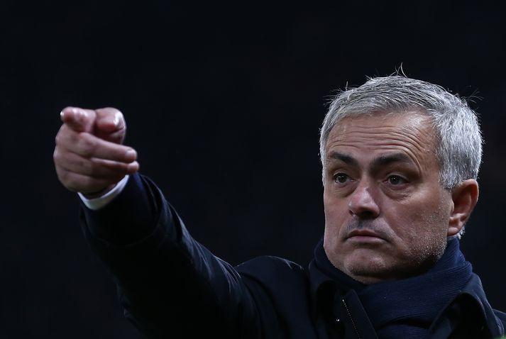 Mourinho fór tómhentur frá Old Trafford.