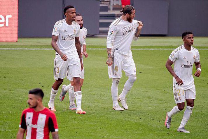 Ramos fagnar sigurmarkinu.
