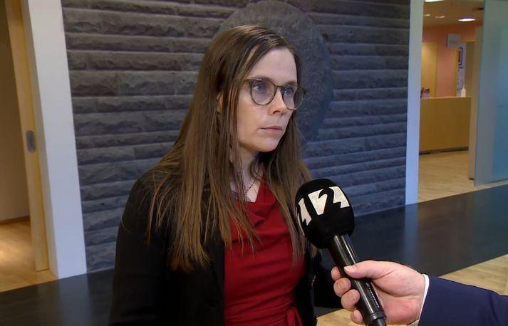 Katrín Jakobsdóttir, forsætisráðherra, segir laun æðstu embættismanna fylgja almennri launaþróun
