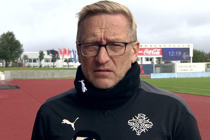 Þorsteinn Halldórsson er þjálfari íslenska kvennalandsliðsins í fótbolta.