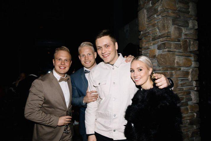 Egill Ploder, Nökkvi Fjalar, Aron Mola og Birgitta Líf voru að sjálfsögðu á svæðinu.
