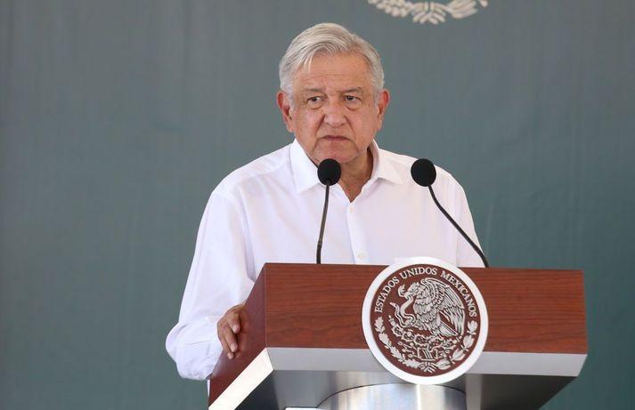 Andrés Manuel López Obrador tók við embætti forseta Mexíkó árið 2018.