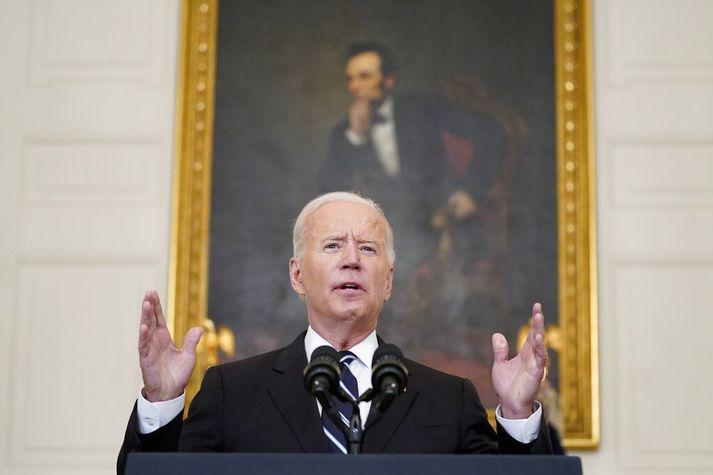 Joe Biden tilkynnti hina nýja stefnu í kvöld.