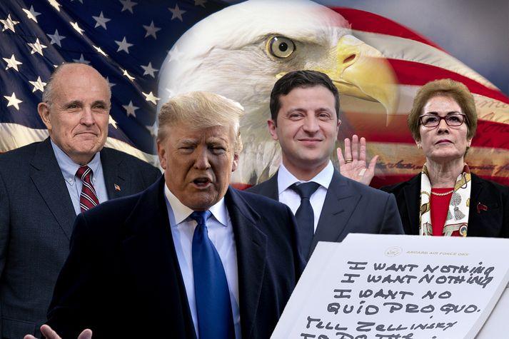Rudy Guiliani, Donald Trump, Wolodymyr Selenskyj og Marie Yovanovitch eru fyrirferðarmikil í þættinum.