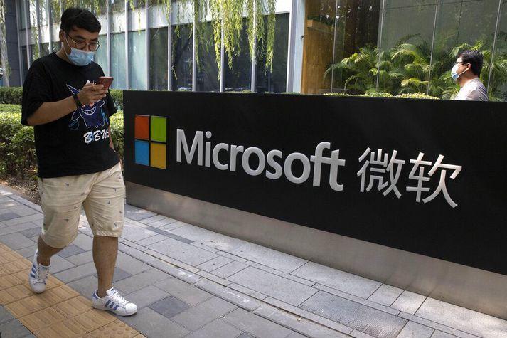 Vestræn ríki hafa sakað kínversk yfirvöld um tölvuárás á Microsoft.