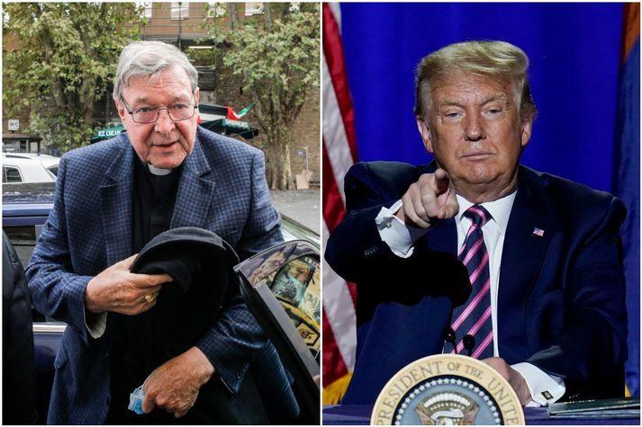 Pell og Trump eru báðir umdeildir menn.