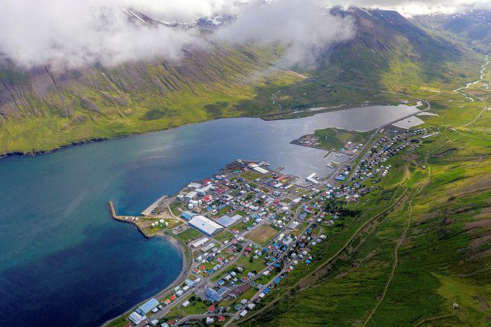 Viðgerðateymi á vegum Mílu vinnur nú að því að laga ljósleiðarann sem fór í sundur í Siglufjarðarskarði.