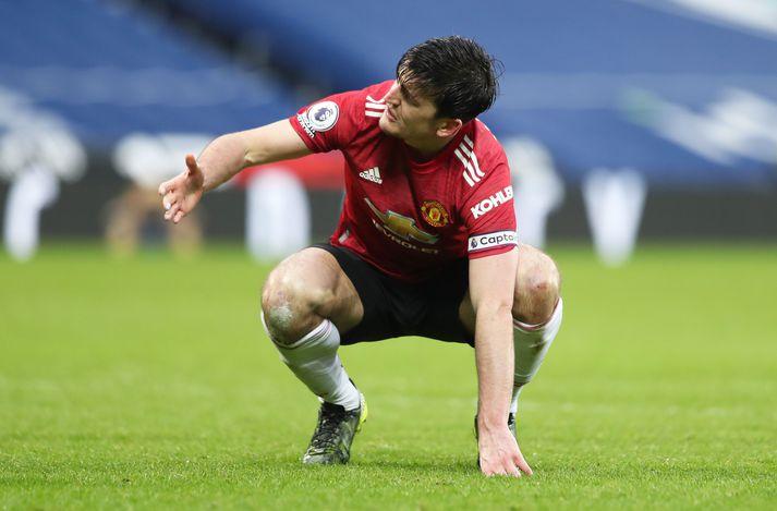 Harry Maguire, fyrirliði Manchester United, hefur verið duglegur að gagnrýna dómara ensku úrvalsdeildarinnar að undanförnu.