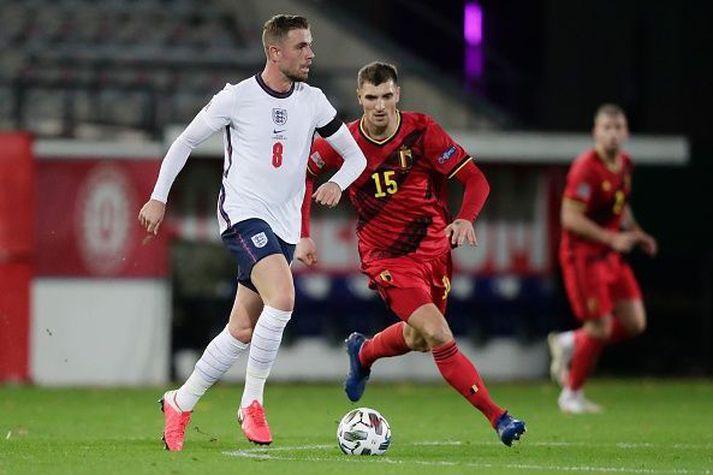 Henderson í 2-0 tapinu gegn Belgum í gær.