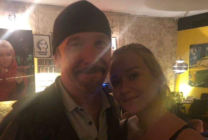 Edge tók vel í selfie beiðni Kristjönu.