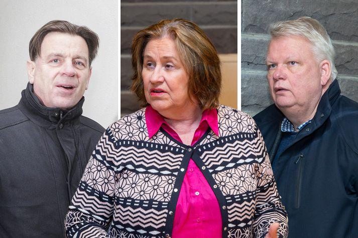 Karl Gauti Hjaltason, Inga Sæland og Ólafur Ísleifsson.