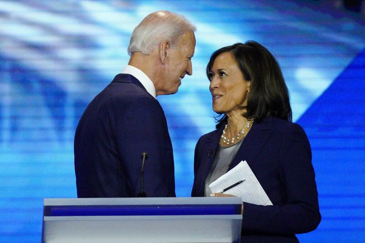 Joe Biden og Kamala Harris, forseta og varaforsetaefni Demókrata.