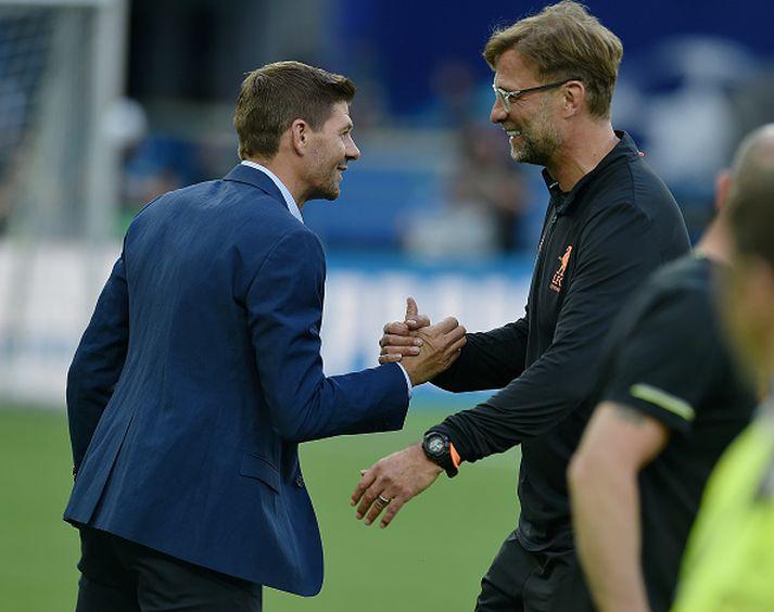 Gerrard og Klopp á góðri stundu.