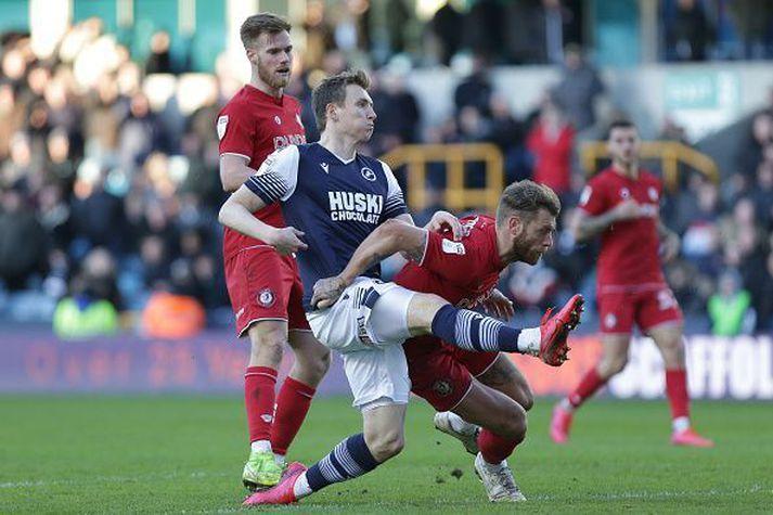 Jón Daði í leik gegn Bristol fyrr á tímabilinu.