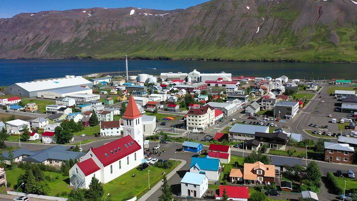 Frá Siglufirði fyrr í sumar, þegar veður var ívið betra.