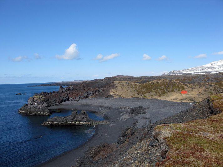 Dritvík í Snæfellsjökulsþjóðgarði er einn margra vinsælla ferðamannastaða á umræddu svæði þar sem símasamband og tetra-samband næst ekki.