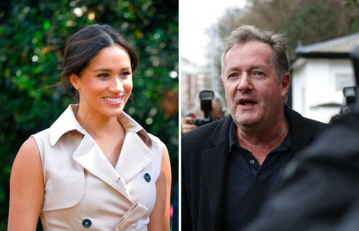 Piers Morgan hætti í gær sem þáttastjórnandi í Good Morning Britain á ITV vegna ummæla sinna um Meghan.