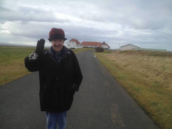 Myndin af Betty sem Guðni birtir á Facebook-síðu forsetaembættisins.