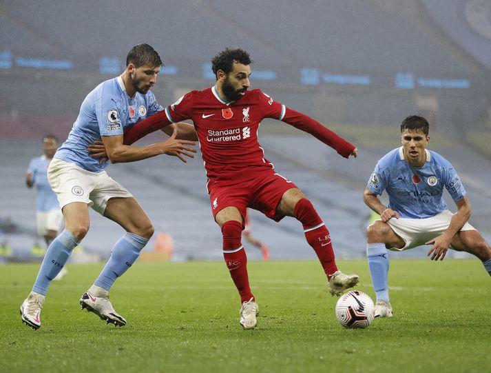 Mohamed Salah skoraði í síðasta leik Liverpool fyrir landsleikjahléið, í 1-1 jafntefli við Manchester City.