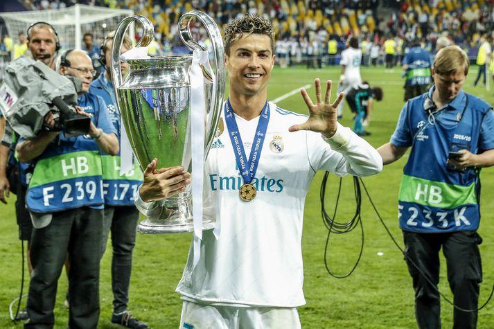 Cristiano Ronaldo spilar á Old Trafford í riðlakeppni Meistaradeildarinnar.