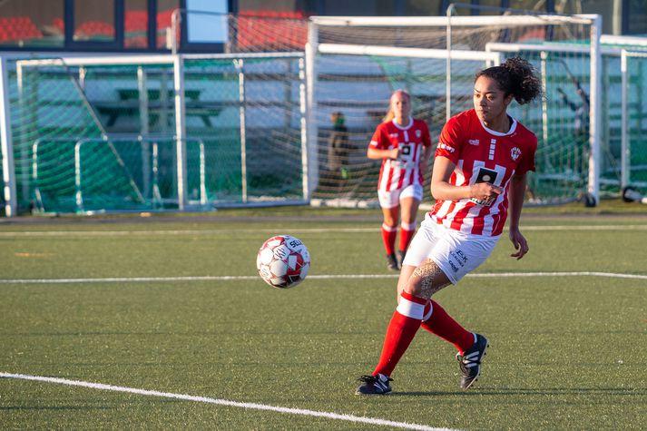 Linda Líf Boama kom Þrótti á bragðið gegn Aftureldingu.