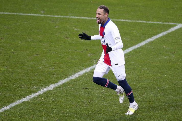 Neymar léttur í bragði.