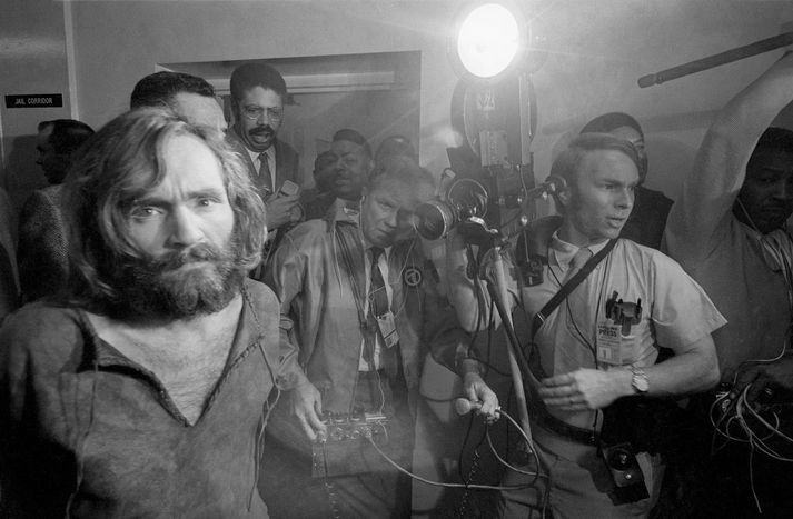 Charles Manson í desember 1969.