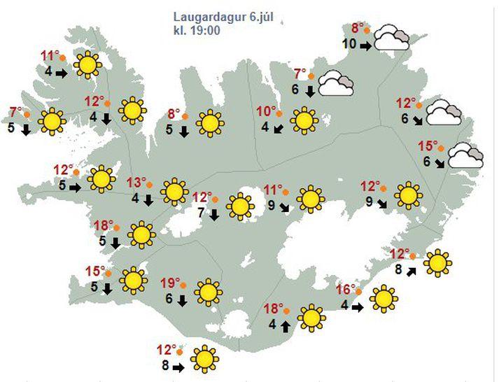 Gleði og hamingja um næstum allt land