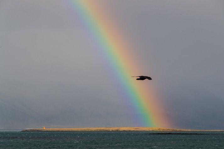 Veðurstofan spáir suðlægri eða breytilegri átt í dag, 3 til 10 metrum á sekúndu.