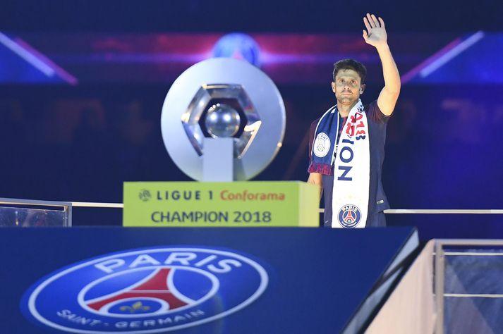 Motta varð fimm sinnum franskur meistari með Paris Saint-Germain.