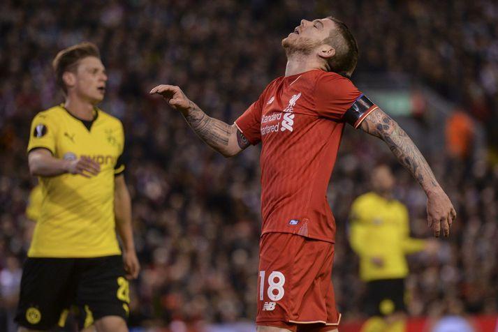 Síðustu ár Alberto Moreno hjá Liverpool voru ekki þau skemmtilegustu.