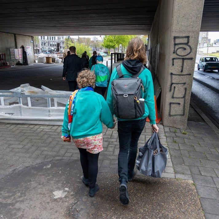Árný Fjóla Ásmundsdóttir og Daði Freyr Pétursson í Rotterdam.