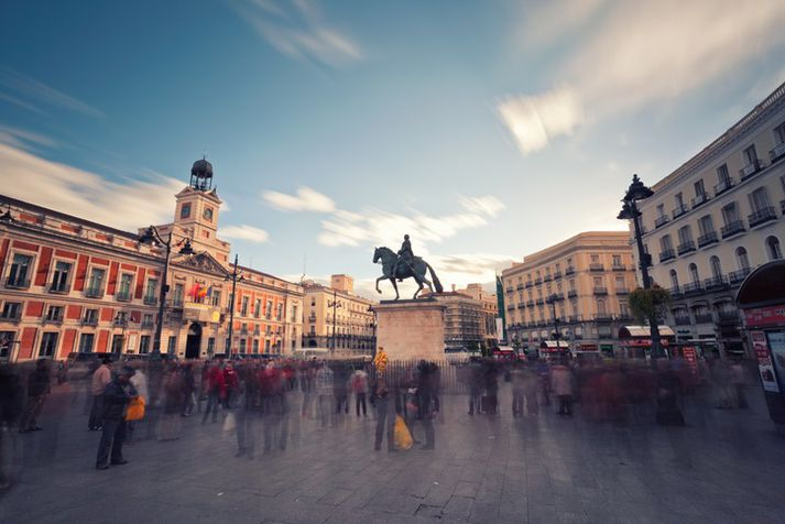 Puerta del Sol í Madríd.