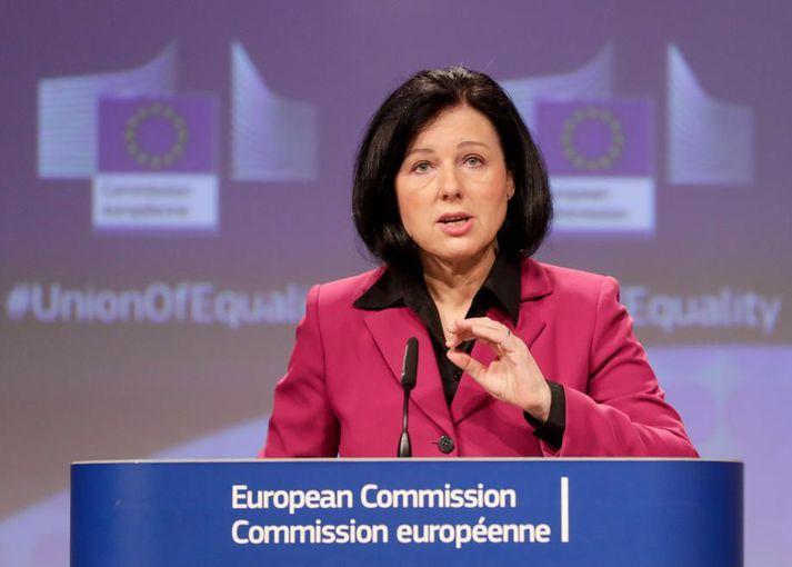 Vera Jourova, varaforseti framkvæmdastjórnar ESB yfir gildum og gegnsæi.