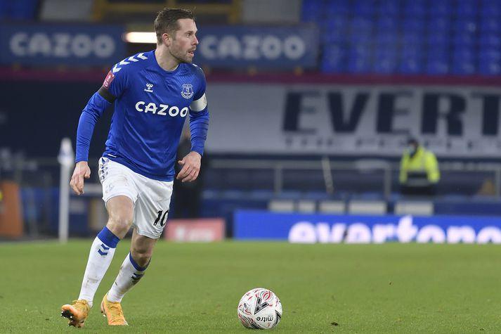 Gylfi Þór og félagar í Everton fá verðugt verkefni í átta liða úrslitum FA-bikarsins.