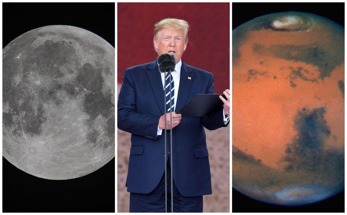 Forsetinn vill að einbeiting NASA sé á Mars en ekki tunglinu.