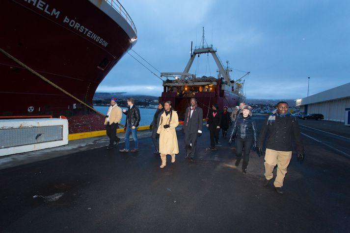 Úr heimsókn Namibíumanna til Íslands í október árið 2012.
