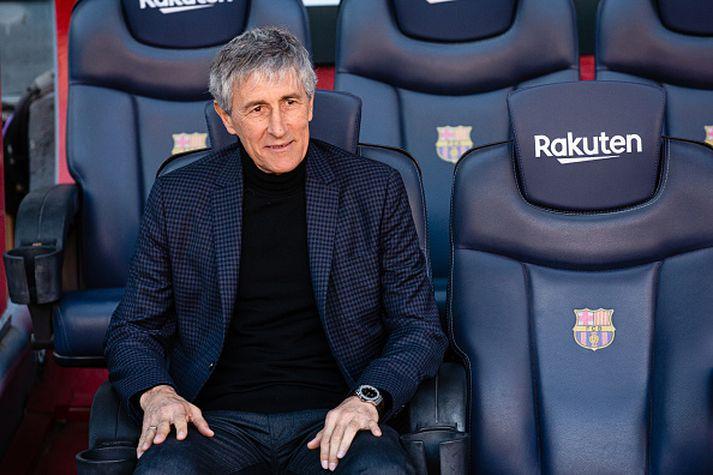 Setién byrjar feril sinn hjá Barcelona á sigri.