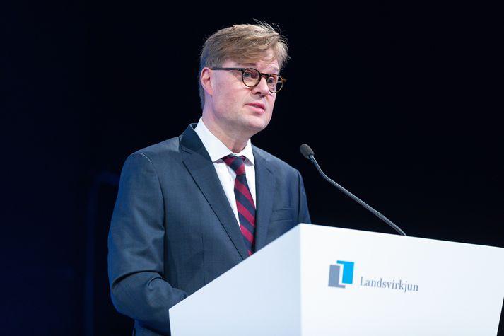Jónas Þór Guðmundsson var endurkjörinn stjórnarformaður Landsvirkjunar.