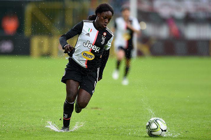 Eni Aluko í leik með Juventus.