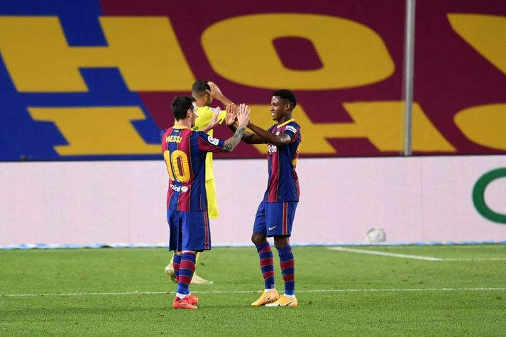 Messi og Ansu Fati voru öflugir í kvöld.