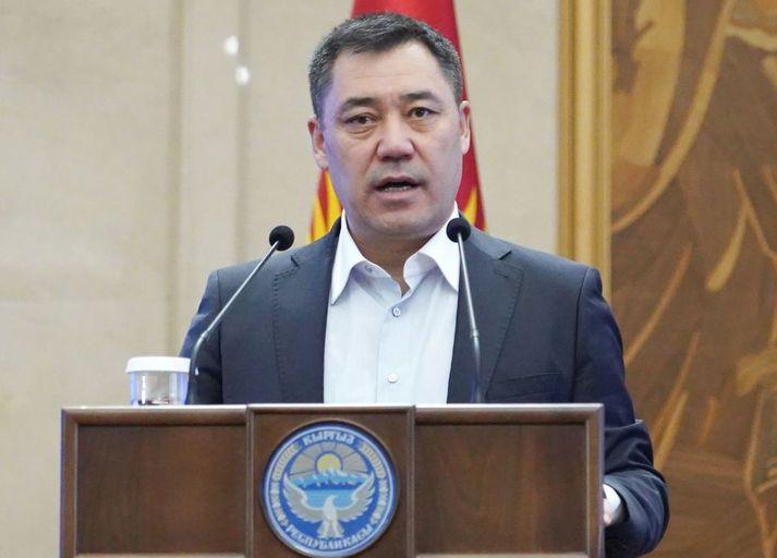 Sadyr Japarov verður næsti forseti Kirgistans.