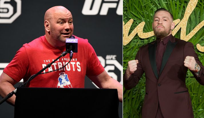 Dana White og Conor McGregor.