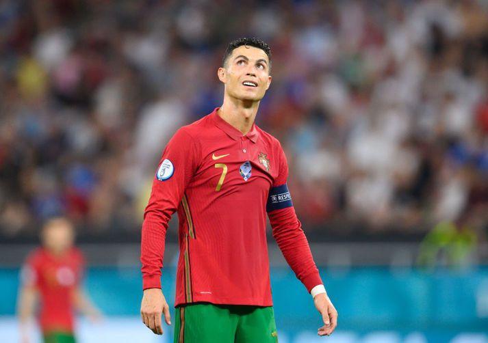 Cristiano Ronaldo á Evrópumótinu í sumar.