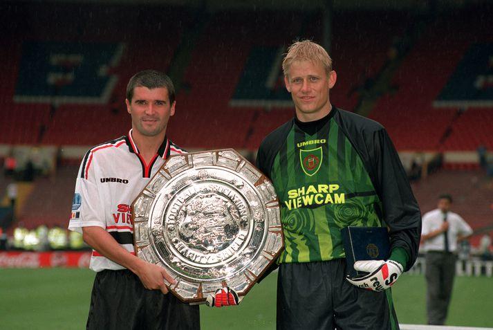 Keane og Schmeichel voru ekki bestu vinir.