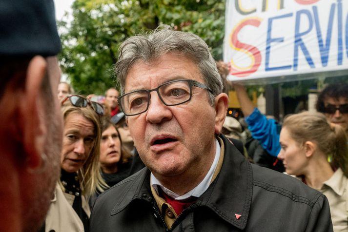 Jean-Luc Mélenchon bauð sig fram til forseta árið 2017 og hlaut þá 19,5 prósent atkvæða í fyrri umferð kosninganna.