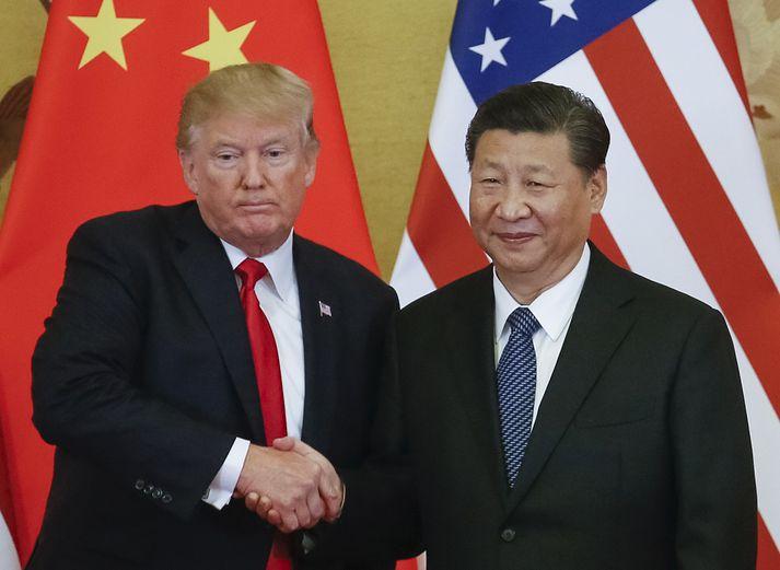 Donald Trump og Xi Jinping, forsetar Bandaríkjanna og Kína.