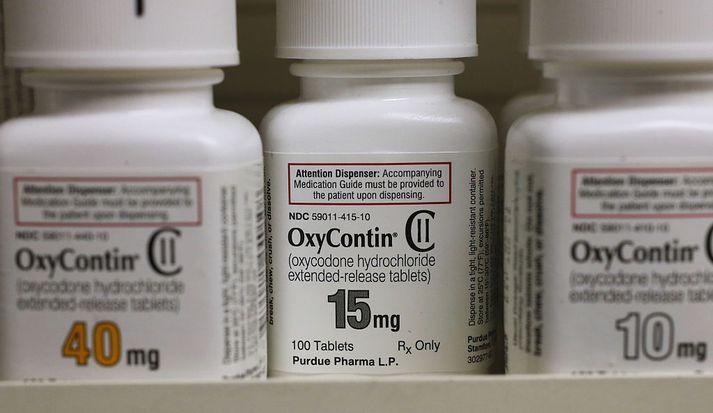 OxyContin sem framleitt er af Purdue Pharma er eitt umtalaðasta ópíóðalyf sem framleitt hefur verið.